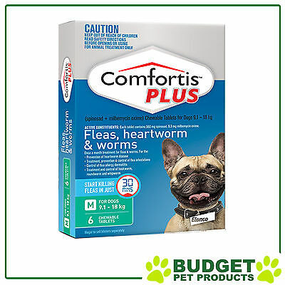 Comfortis Plus For Dogs Green Medium 9.1-18kg 6 Pack