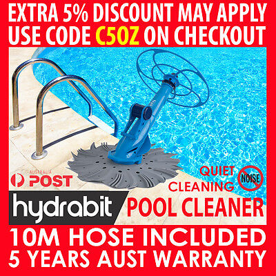 Hydrabit Swimming Pool Cleaner Floor Automatic Vacuum Wall Climb With 10M Hose