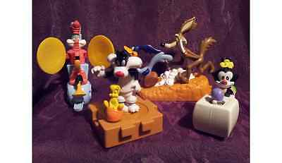 Warner Bros Toy Figures - Space Jam / Animaniacs etc - Roll Along RARE VINTAGE