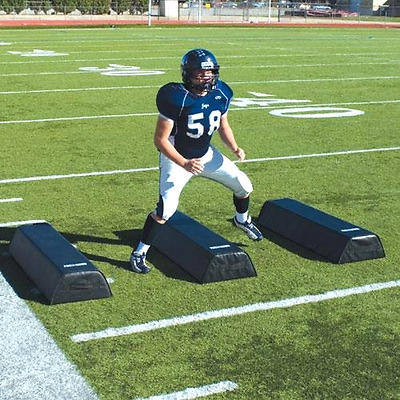 """New Pro Down Step-Over Dummies 8"""" High Sport Football Workout Training Aid Black"""