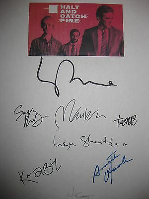 Halt and Catch Fire Signed TV Pilot Script Lee Pace Scoot McNairy Kerry Bishe rp