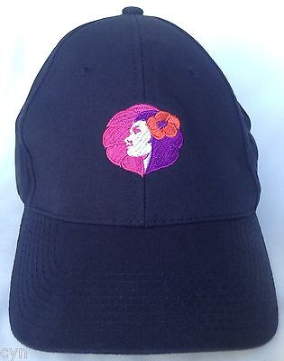 Rare Hawaiian Airlines Hat Pualani Blue Embroidered Logo Cap Embroidery
