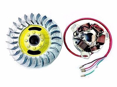 Magneto Flywheel & Stator Assembly 6V Lambretta  Li Sx Tv Large Cone @aud