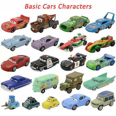 Mattel Disney Pixar Cars Basic Characters Lightning McQueen Diecast 1:55 Loose