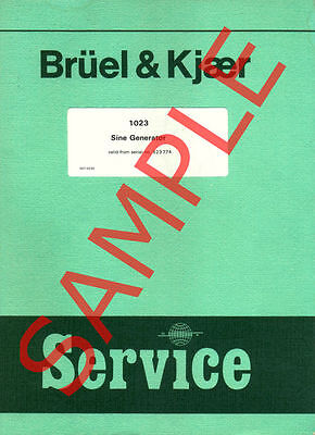 Bruel & Kjaer SERVICE and USER manuals in PDF - Group 1