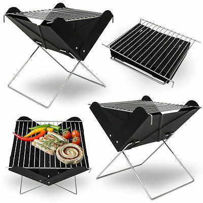 New Bbq Barbecue Grill Folding Portable Charcoal Garden Travel Outdoor Camping