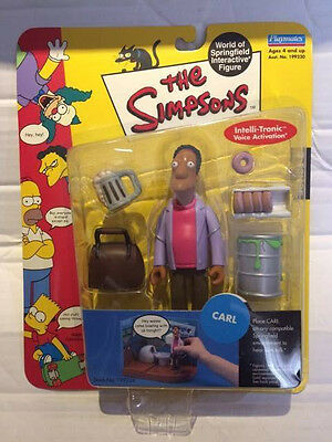New Playmates The Simpsons Figure - CARL - World of Springfield Interactive Rare