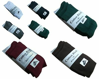 Boys ,girls Size 4-7  Coloured 75% Cotton School Ankle Socks 3-6-9-12 Pairs