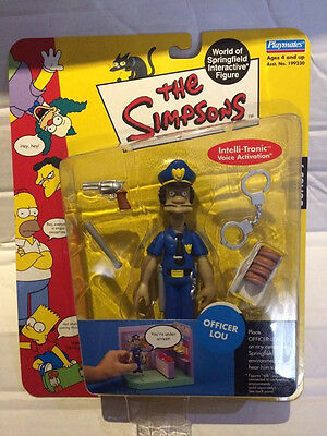 New Playmates The Simpsons Figure - OFFICER LOU - Interactive Springfield Rare