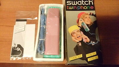 SWATCH TWIN PHONE PUZZLE PIECES XV 200 NEVER USED IN BOX 1980's NUOVO MAI USATO
