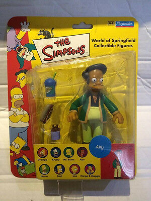 New Playmates The Simpsons Figure - APU - Collectible World of Springfield Rare