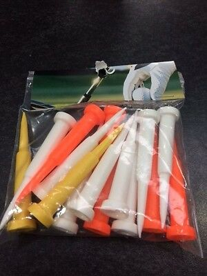 "High Grade Golf Cone Plastic Tees 2 3/4"" - New Extra Long Length Bag 70Mm"