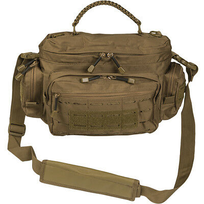 Mil-Tec Tactical Paracord Bag Small Laser MOLLE Shoulder Army Pack Dark Coyote