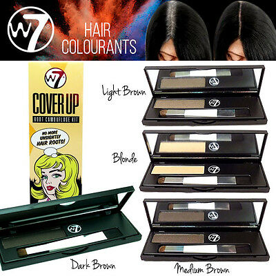 W7 Makeup Cover Up Root Camouflage Kit For Hair 4 Shades