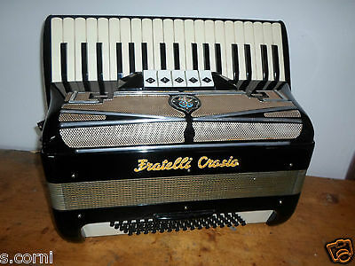 FISARMONICA fratelli crosio accordion acordeón Akkordeon 80 bassi in terza