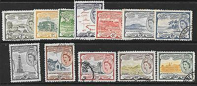 ST.KITTS-NEVIS SG106a/16 1954 DEFINITIVE SET TO 60c  FINE USED