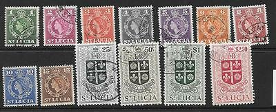 St.lucia Sg172/84 1953 Definitives Fine Used