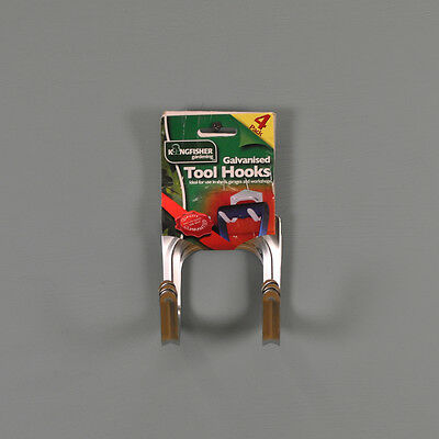 Large Tool Storage Hooks (Pack of 4) by Kingfisher