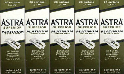 500 Astra Superior Platinum Double Edge Razor Blades Popular Sellers