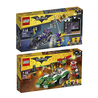 The Lego Batman Movie 70902 70903 Catwoman Catcycle-Verfolgung+ The Riddle Racer