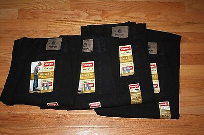 4 pairs Wrangler Men's Relaxed Fit Five Star jeans 36 x 32 Black NEW w/ tags