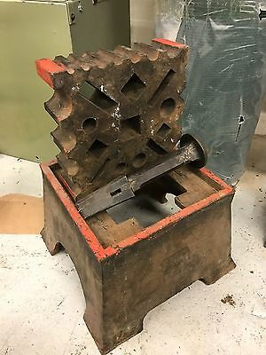 Blacksmiths Heavy Swage Block and Stand With Forming Dollies Stakes