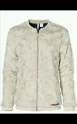 O'neill Girls Dusty White Fur  Lg Polar Super  Fleece Jacket 9 - 10  Years Bnwt