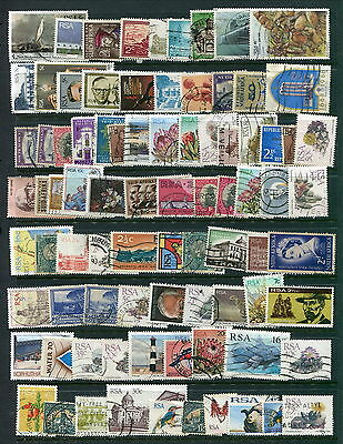 125 Different Used South Africa Stamps (Lot #d10)