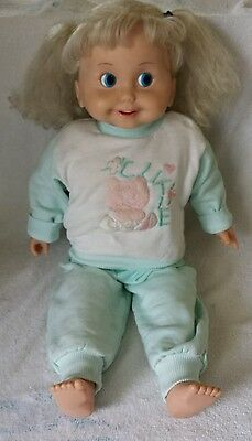 Vintage 1986 Playmates Cricket Talking Doll Time for Health& Exercise Tape Works