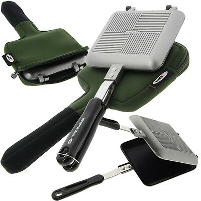 Fishing + Camping Compact Toastie Maker with Green Neoprene Storage Carry Case