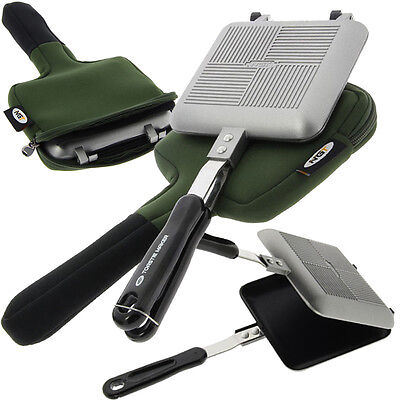 Portable Fishing Camping Toastie Sandwich Press Maker with Neoprene Storage Case
