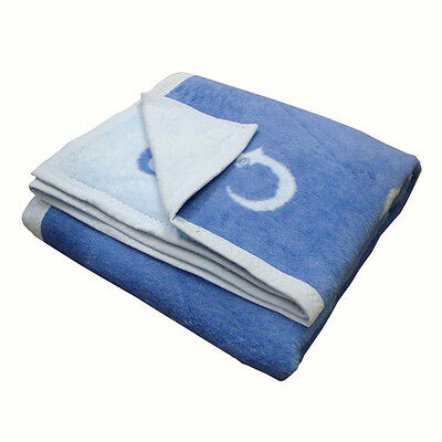 Hippychick Cotton Blankets Chick Blue - Cot And Pram Sizes (Bl)