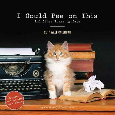 I Could Pee On This Calendar 2017 Humour Wall Calendar Month View Sale New
