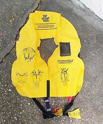 Airplane Boat Emergency Inflatable Life Vest Plane Airline Aircraft Beacon 75