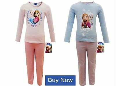 Girls Official Disney Frozen Pyjamas Long Sleeve Pink Elsa Age 2 3 4 5 6 7 8