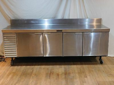 "Delfield 96"" Stainless Steel 4 Door Prep Table/Cooler Refrigerator V18696-32"