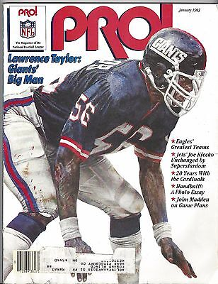 January 1983 Pro Magazine - Cover: Lawrence Taylor, New York Giants - NFL