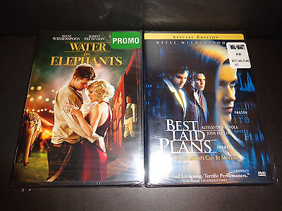 WATER FOR ELEPHANTS & BEST LAID PLANS-2 DVDs-Reese Witherspoon, Robert Pattinson