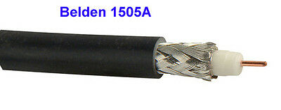 Belden 1505A - 1,000 ft Black - RG59/20 HD and SDI Digital Coax Cable  clearance