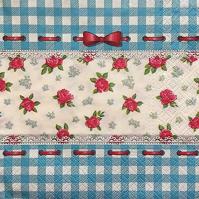 2 single paper napkins for Decoupage Crafts or Collection Flowers Flower