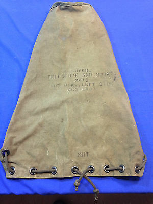 M412 Telescope & Mount Cover (MILITARY Surplus) 105 How. Left Side