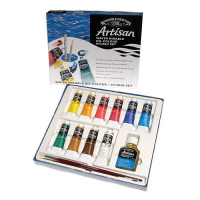 Winsor & Newton / Colart Wn1590252  Artisan Oil Color Studio Set 10X37Ml Leaflet