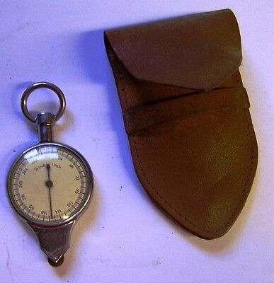 VintageMade In Germany Map Wheel - 1/4 and 1/8 Inch to 1 Inch - Leather Pouch