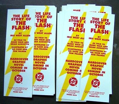 The Life Story of the Flash Bookmark Lot of 24 - 1997 DC Comics Promo Only