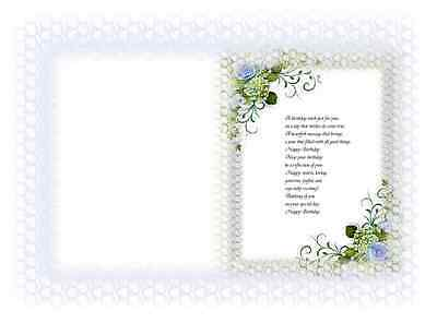 20  Assorted  Patterned Card verse inserts for A5 cards