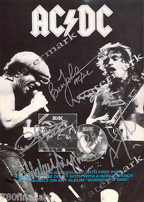 AC/DC - Thats The Way I Wanna Rock...Signed Promo Poster