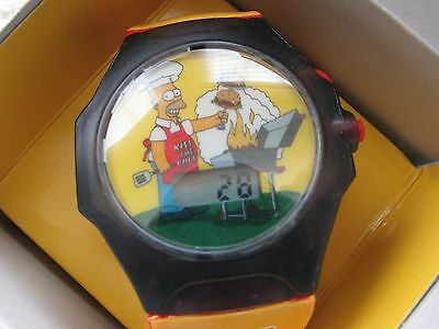 The Simpsons Talking Watch Burger King 2002 Authentic Collectible