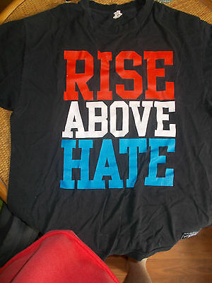 John Cena Rise Above Hate/Hustle Loyalty Respect Wrestling T-Shirt, WWE, Size XL