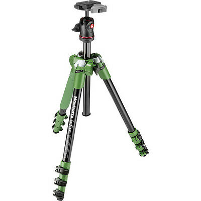 Manfrotto MKBFRA4G-BH Befree Aluminum Green Tripod with Ball Head, EU Seller!
