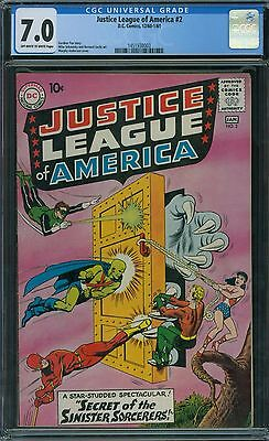 Justice League of America 2 CGC 7.0 - OW/W Pages